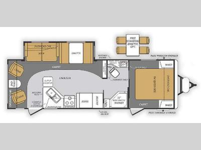 Floorplan - 2014 Forest River RV Wildcat Maxx 27RLS