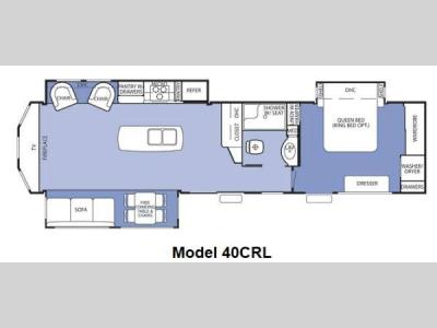 Floorplan - 2014 Forest River RV Cedar Creek Cottage 40CRL