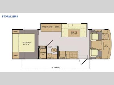 Floorplan - 2014 Fleetwood RV Storm 28MS