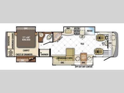 Floorplan - 2014 Forest River RV Berkshire 360QL