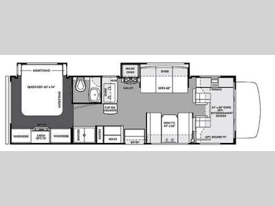 Floorplan - 2014 Forest River RV Forester 2861DS Ford