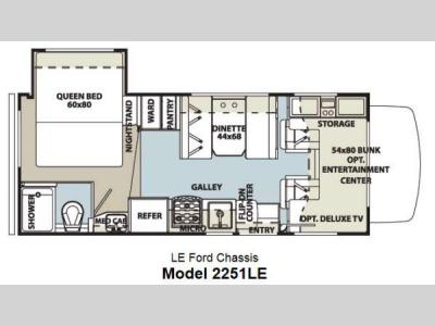 Floorplan - 2014 Forest River RV Forester LE 2251LE Ford