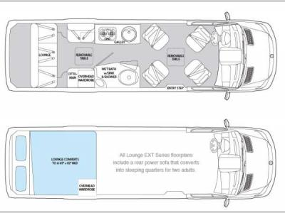 Floorplan - 2014 Airstream RV Interstate Interstate Ext Lounge