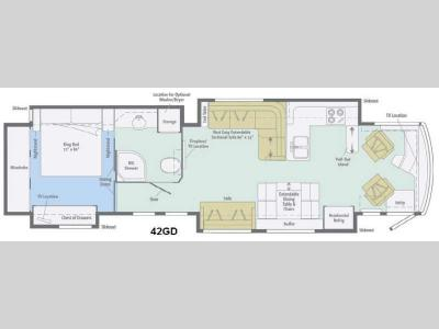 Floorplan - 2014 Itasca Ellipse 42GD