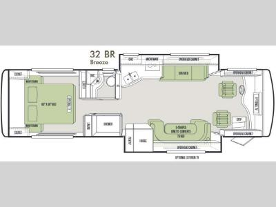 Floorplan - 2014 Tiffin Motorhomes Allegro Breeze 32 BR