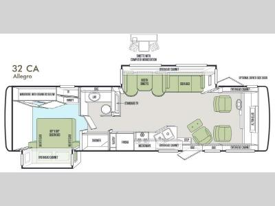 Floorplan - 2014 Tiffin Motorhomes Allegro 32 CA
