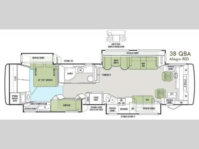 Floorplan - 2014 Tiffin Motorhomes Allegro RED 38 QBA