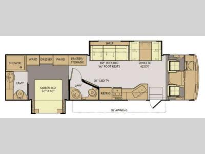 Floorplan - 2014 Fleetwood RV Terra 35K