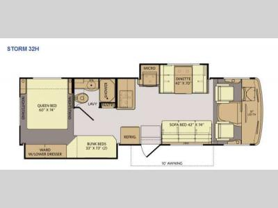Floorplan - 2014 Fleetwood RV Storm 32H