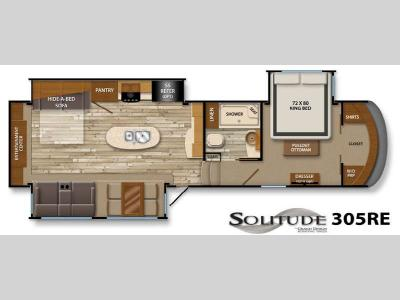 Floorplan - 2014 Grand Design Solitude 305RE