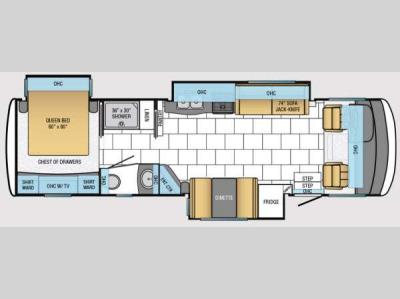 Floorplan - 2014 Newmar Bay Star 3215