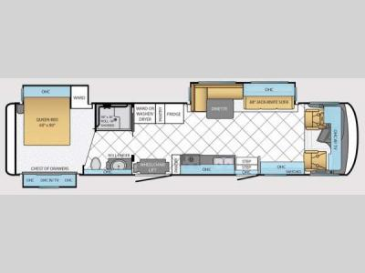 Floorplan - 2014 Newmar Canyon Star 3911