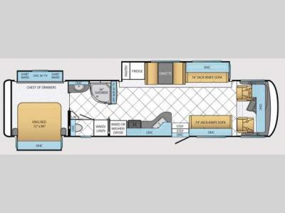 Floorplan - 2014 Newmar Canyon Star 3940