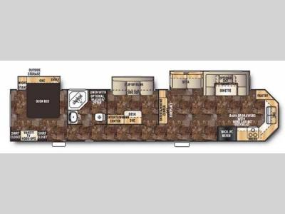 Floorplan - 2014 Forest River RV Cherokee 39KT