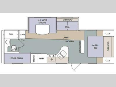 Floorplan - 2014 Prime Time Manufacturing Tracer 2670BHS