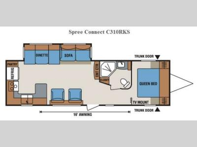 Floorplan - 2014 KZ Spree Connect C310RKS