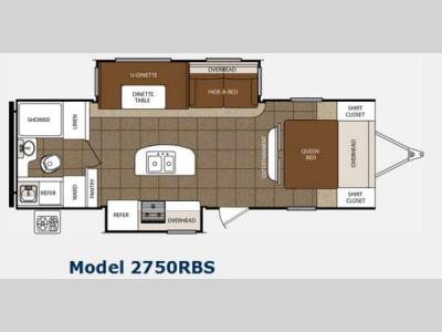 Floorplan - 2014 Prime Time Manufacturing Tracer 2750RBS
