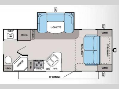 Floorplan - 2014 Jayco White Hawk 20MRB