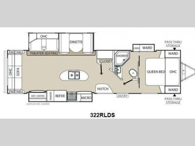 Floorplan - 2014 Coachmen RV Freedom Express Liberty Edition 322RLDS