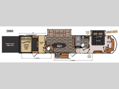 Floorplan - 2014 Dutchmen RV Voltage V3990