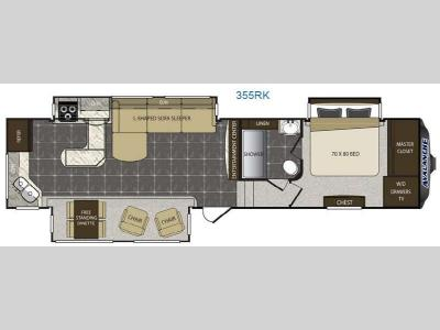 Floorplan - 2014 Keystone RV Avalanche 355RK
