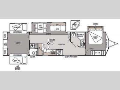 Floorplan - 2014 Forest River RV Wildwood Lodge 404X4 Lodge
