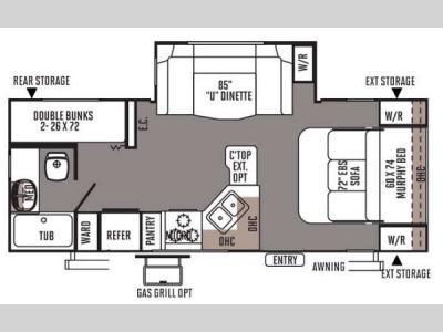 Floorplan - 2014 Forest River RV Rockwood Mini Lite 2504S