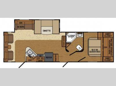 Floorplan - 2014 Augusta RV Flex AT 29RL