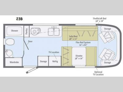 Floorplan - 2014 Winnebago Trend 23B