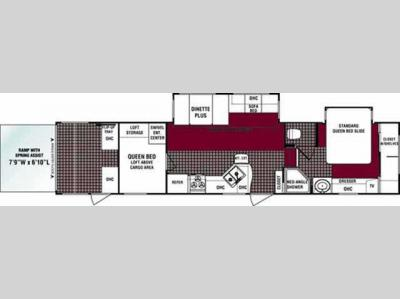 Floorplan - 2007 Dutchmen RV Victory Lane 36SRV-H5-BS