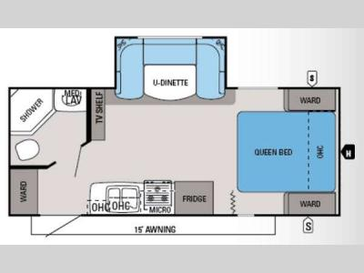 Floorplan - 2014 Jayco White Hawk 21FBS