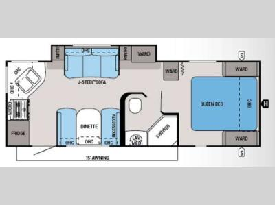 Floorplan - 2014 Jayco White Hawk 24RKS