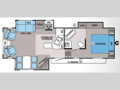 Floorplan - 2014 Jayco Eagle HT 27 5RLTS