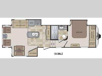 Floorplan - 2014 Keystone RV Cougar 313RLI