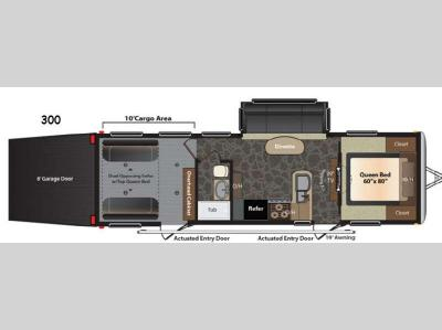 Floorplan - 2014 Keystone RV Impact 300