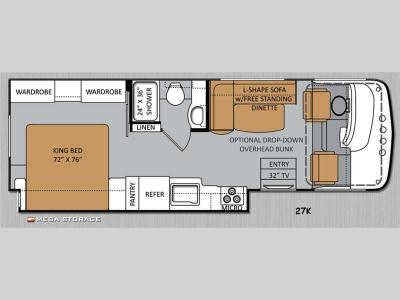 Floorplan - 2014 Thor Motor Coach Windsport 27K
