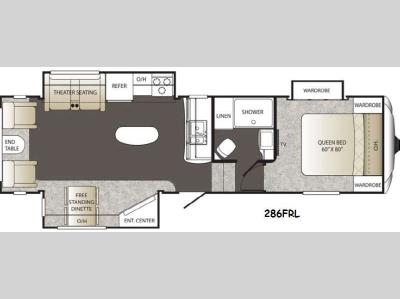 Floorplan - 2014 Keystone RV Outback 286FRL