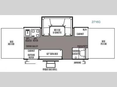 Floorplan - 2014 Forest River RV Rockwood Premier 2716G