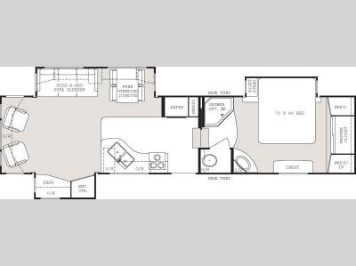 Floorplan - 2007 Keystone RV Everest 343L
