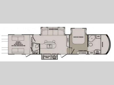 Floorplan - 2014 CrossRoads RV Elevation TF 3810