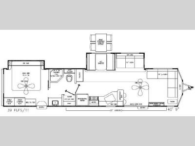 Floorplan - 2014 Coachmen RV Catalina Destination Series 39FLFS