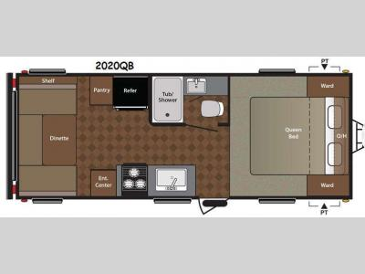 Floorplan - 2014 Keystone RV Summerland 2020QB