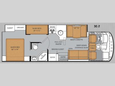 Floorplan - 2014 Thor Motor Coach ACE 30 2
