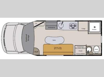 Floorplan - 2014 Pleasure-Way Prestige Prestige