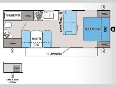 Floorplan - 2014 Jayco Jay Flight Swift 238RB