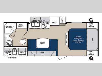 Floorplan - 2014 Forest River RV Surveyor Sport SP 240RBS