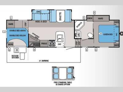 Floorplan - 2014 Jayco Eagle HT 29 5BHDS
