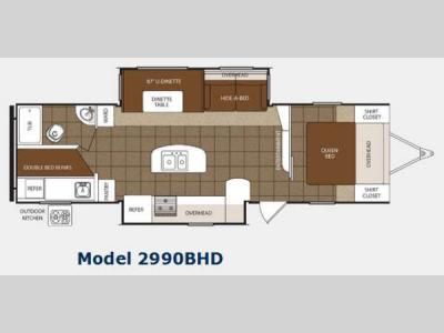 Floorplan - 2014 Prime Time Manufacturing Tracer 2990BHD
