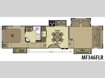 Floorplan - 2014 Open Range RV Mesa Ridge MF346FLR