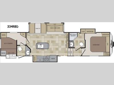 Floorplan - 2014 Keystone RV Cougar 334RBD